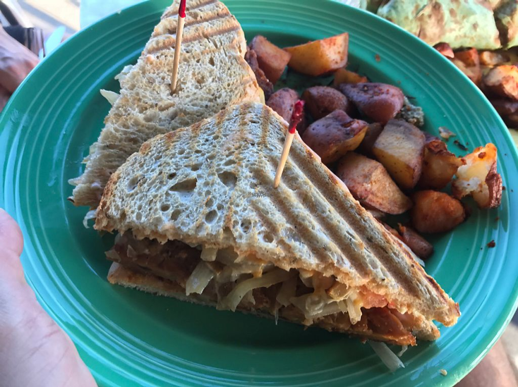 "Photo of The Grain Cafe  by <a href=""/members/profile/FatTonyBMX"">FatTonyBMX</a> <br/>Reuben sandwich with potatoes. Delicious!  <br/> April 23, 2017  - <a href='/contact/abuse/image/89010/251452'>Report</a>"