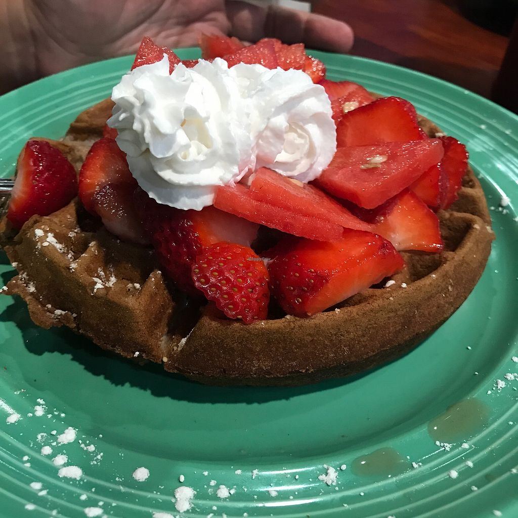 "Photo of The Grain Cafe  by <a href=""/members/profile/xmrfigx"">xmrfigx</a> <br/>Waffles with fruit <br/> August 8, 2017  - <a href='/contact/abuse/image/89010/290332'>Report</a>"