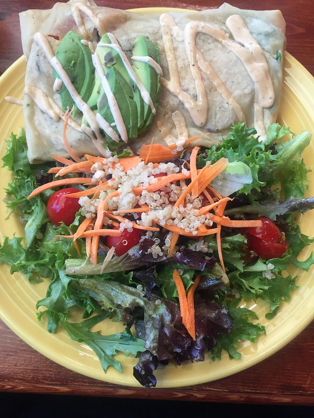 "Photo of The Grain Cafe  by <a href=""/members/profile/R-MV"">R-MV</a> <br/>Patty Crepe and Salad  <br/> September 21, 2017  - <a href='/contact/abuse/image/89010/306945'>Report</a>"