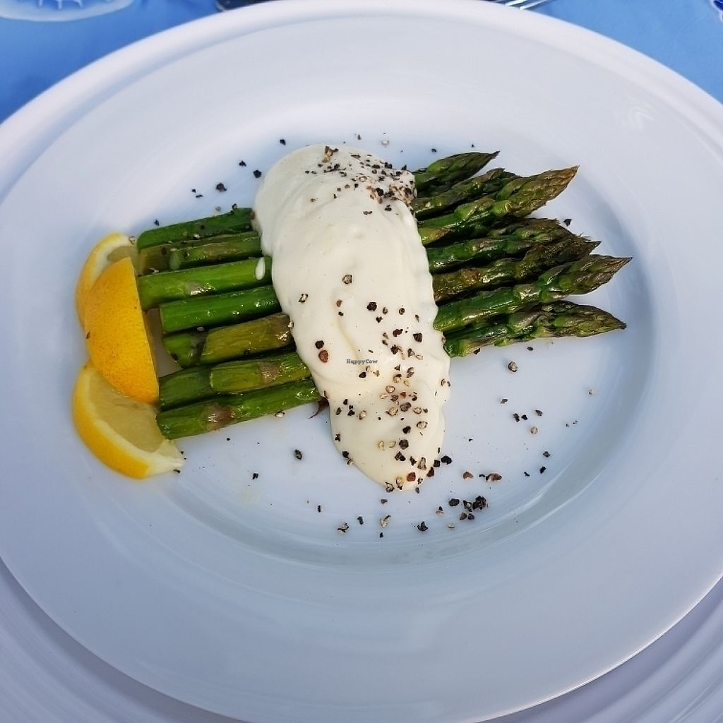 "Photo of Bleujennow  by <a href=""/members/profile/Sassyvegan"">Sassyvegan</a> <br/>Local asparagus with aquafaba lemon mayonnaise  <br/> May 26, 2017  - <a href='/contact/abuse/image/89033/262723'>Report</a>"