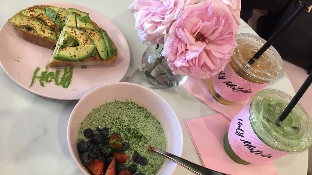 "Photo of Holy Matcha  by <a href=""/members/profile/MelanieArce"">MelanieArce</a> <br/>Matcha Chia Seed Pudding and Avocado Toast  <br/> March 22, 2017  - <a href='/contact/abuse/image/89052/239498'>Report</a>"