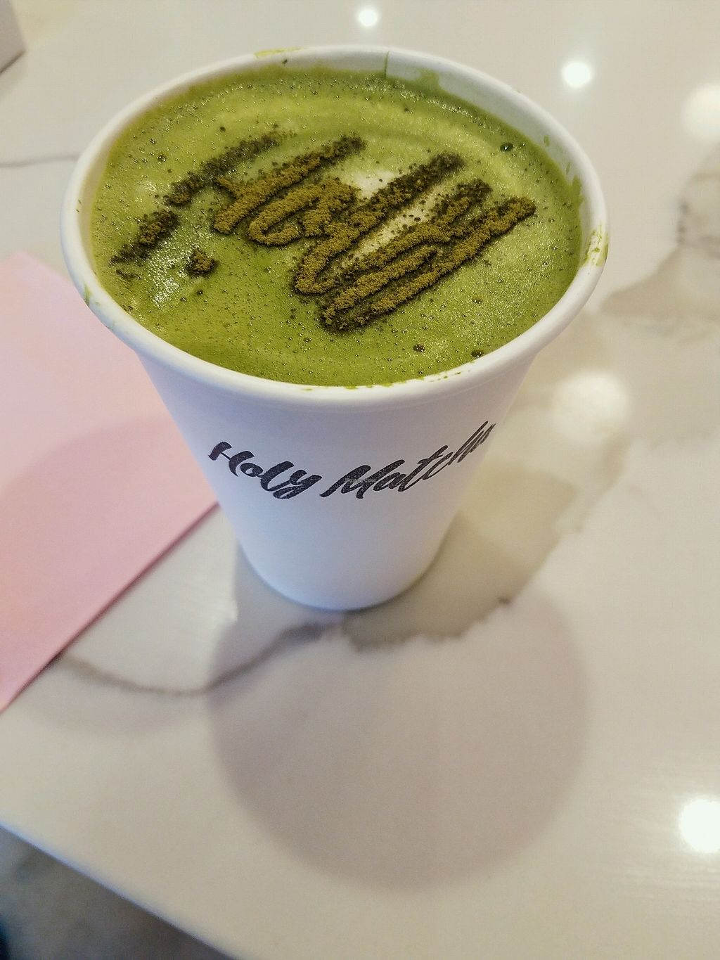 "Photo of Holy Matcha  by <a href=""/members/profile/Ryan%20MTB"">Ryan MTB</a> <br/>Matcha Latte  <br/> September 23, 2017  - <a href='/contact/abuse/image/89052/307557'>Report</a>"