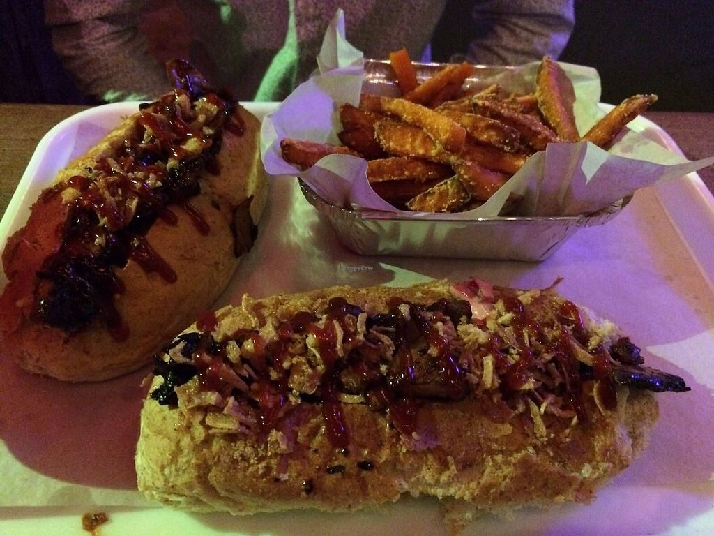 """Photo of Meet Frank  by <a href=""""/members/profile/avocado_jess"""">avocado_jess</a> <br/>Vegan hotdogs and a side of sweet potato fries <br/> December 26, 2017  - <a href='/contact/abuse/image/89074/339180'>Report</a>"""
