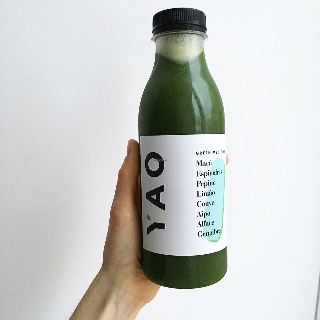 "Photo of Yao Pressed Juicery  by <a href=""/members/profile/MarinaGalv%C3%A3o"">MarinaGalvão</a> <br/>Suco verde <br/> February 27, 2018  - <a href='/contact/abuse/image/89079/364450'>Report</a>"