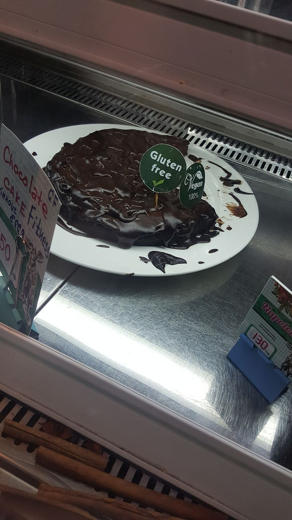"""Photo of Tidbit Bakery  by <a href=""""/members/profile/lene86"""">lene86</a> <br/>Vegan chocolate cake <br/> March 23, 2017  - <a href='/contact/abuse/image/89085/239656'>Report</a>"""