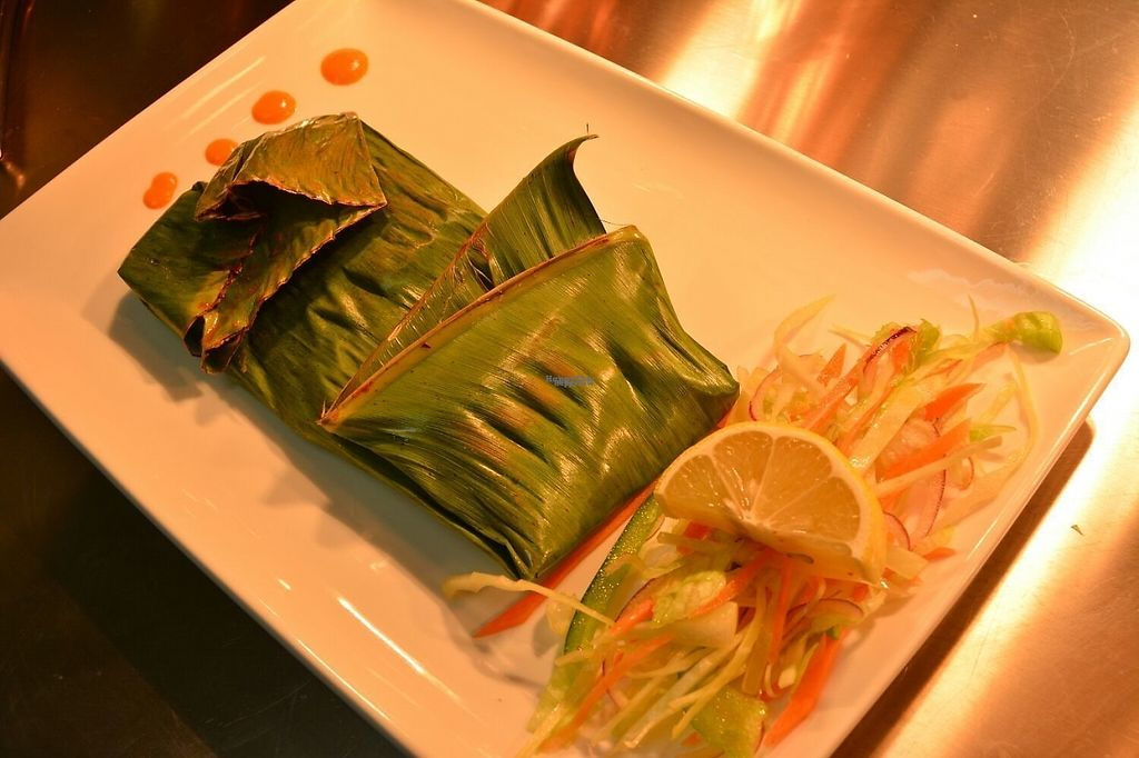 "Photo of Anjanaas  by <a href=""/members/profile/ChrisAntonyJames"">ChrisAntonyJames</a> <br/>Mushrooms wrapped in banana leaf and cooked on grill <br/> March 25, 2017  - <a href='/contact/abuse/image/89103/240771'>Report</a>"