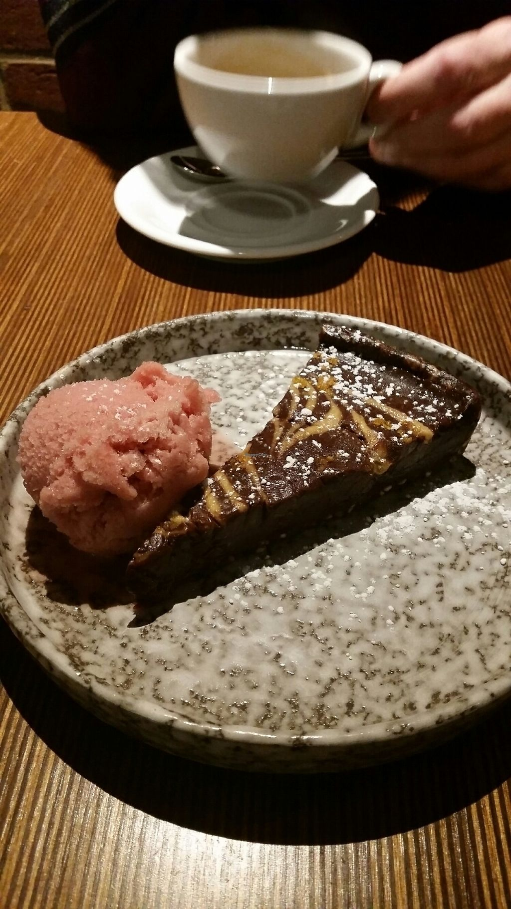 "Photo of Ask  by <a href=""/members/profile/ChantalW"">ChantalW</a> <br/>Vegan chocolate and orange torte with blood orange sorbet <br/> May 19, 2017  - <a href='/contact/abuse/image/89124/260129'>Report</a>"