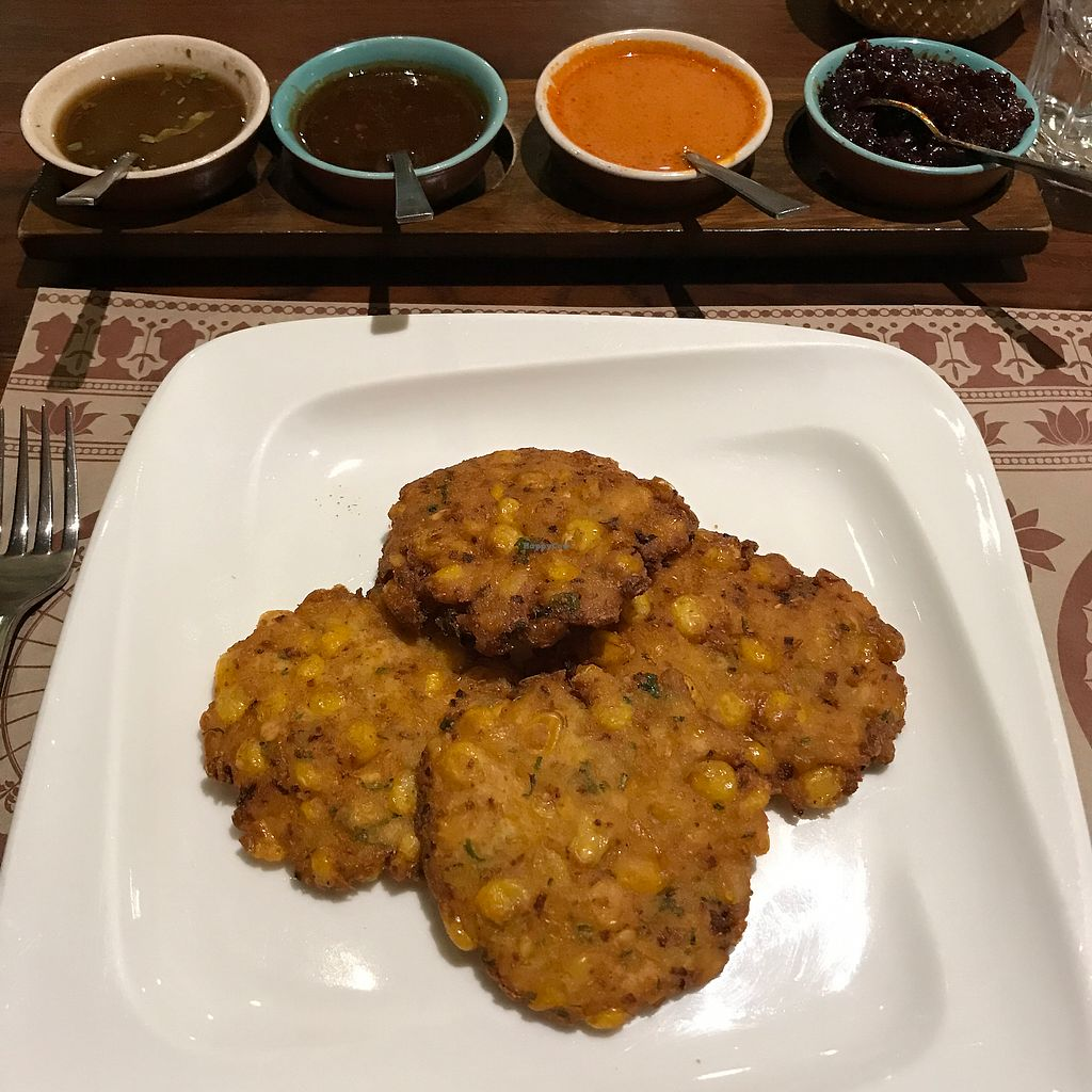 """Photo of Burma Burma Restaurant & Tea Room  by <a href=""""/members/profile/earthville"""">earthville</a> <br/>corn fritters <br/> July 13, 2017  - <a href='/contact/abuse/image/89126/279898'>Report</a>"""
