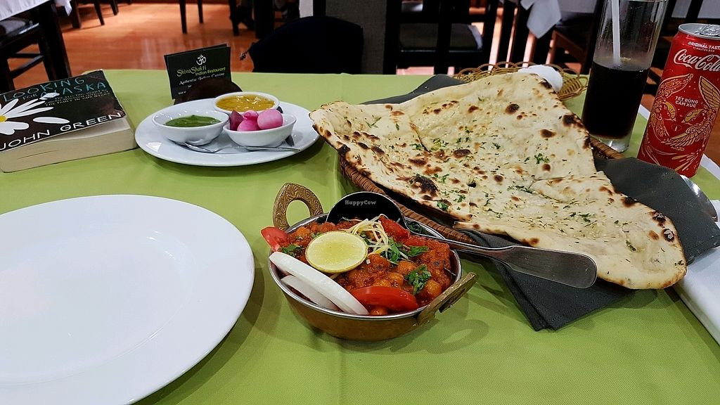 "Photo of Shiva Shakti Indian Restaurant  by <a href=""/members/profile/aggiem"">aggiem</a> <br/>Channa Masala and garlic naan <br/> November 11, 2017  - <a href='/contact/abuse/image/89134/324183'>Report</a>"