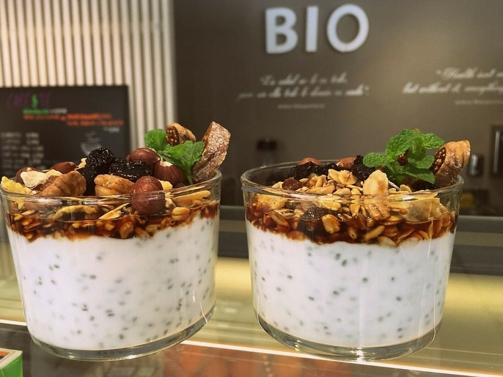 """Photo of CLOSED: Greenpoint Organic&Healthy  by <a href=""""/members/profile/greenpoint"""">greenpoint</a> <br/>Organic yogurt with muesli, chia seeds, goji beans and more. Available also with soya yogurt! <br/> March 27, 2017  - <a href='/contact/abuse/image/89144/241746'>Report</a>"""