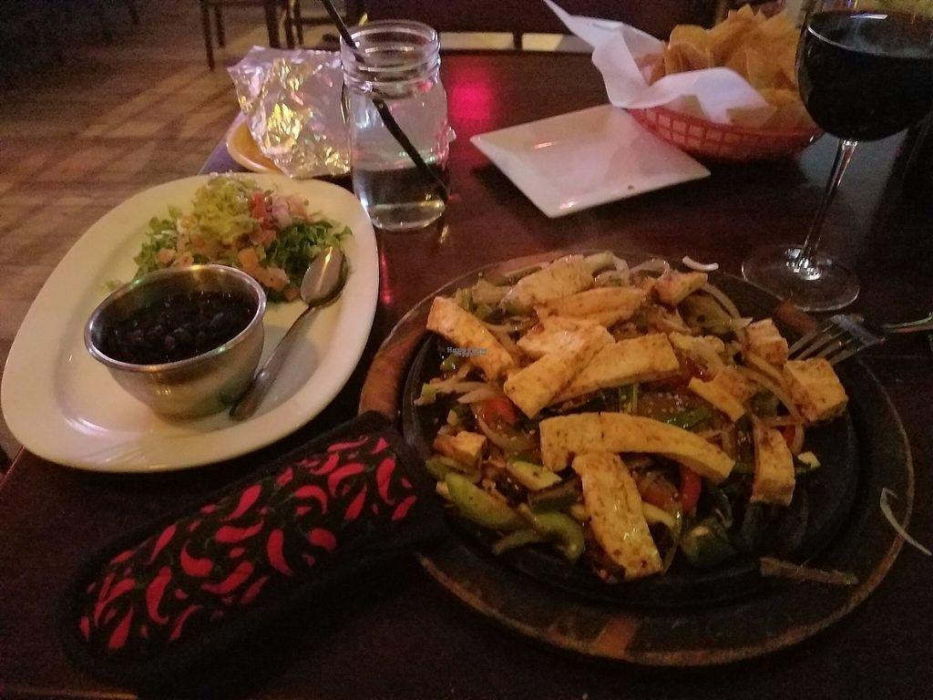 "Photo of La Rancherita  by <a href=""/members/profile/lhpangler"">lhpangler</a> <br/>Tofu Veggie fajitas! <br/> March 23, 2017  - <a href='/contact/abuse/image/89150/239920'>Report</a>"