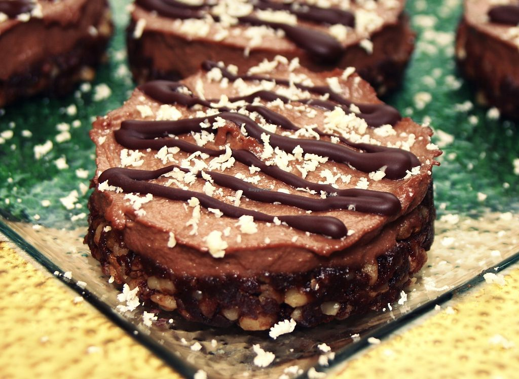 """Photo of Sunny Green  by <a href=""""/members/profile/IrinaPeeva"""">IrinaPeeva</a> <br/>Raw vegan mini chocolate cake <br/> August 10, 2017  - <a href='/contact/abuse/image/89161/291046'>Report</a>"""