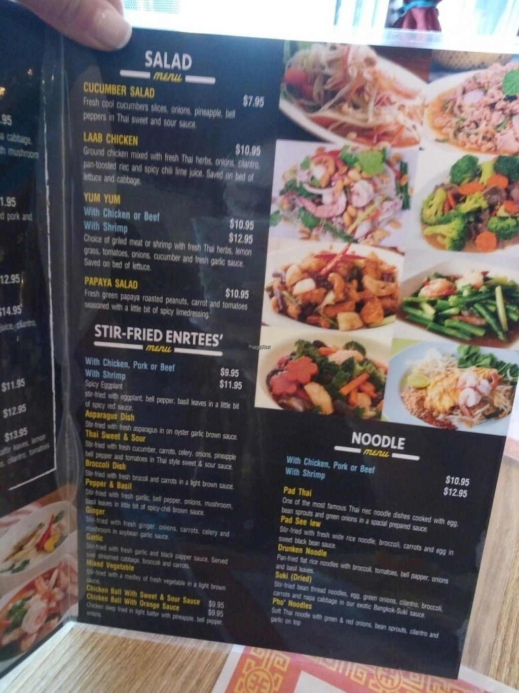 """Photo of Bangkok Thai Cuisine   by <a href=""""/members/profile/IsiDixie"""">IsiDixie</a> <br/>Menú  <br/> March 24, 2017  - <a href='/contact/abuse/image/89173/240130'>Report</a>"""