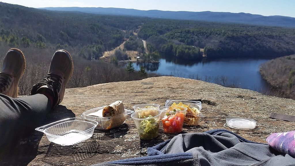 """Photo of Juicin Jar  by <a href=""""/members/profile/Kristenvegley"""">Kristenvegley</a> <br/>Three' s company (vegan) and the South of the border wrap (vegetarian but can be made vegan) <br/> March 24, 2017  - <a href='/contact/abuse/image/89200/240282'>Report</a>"""