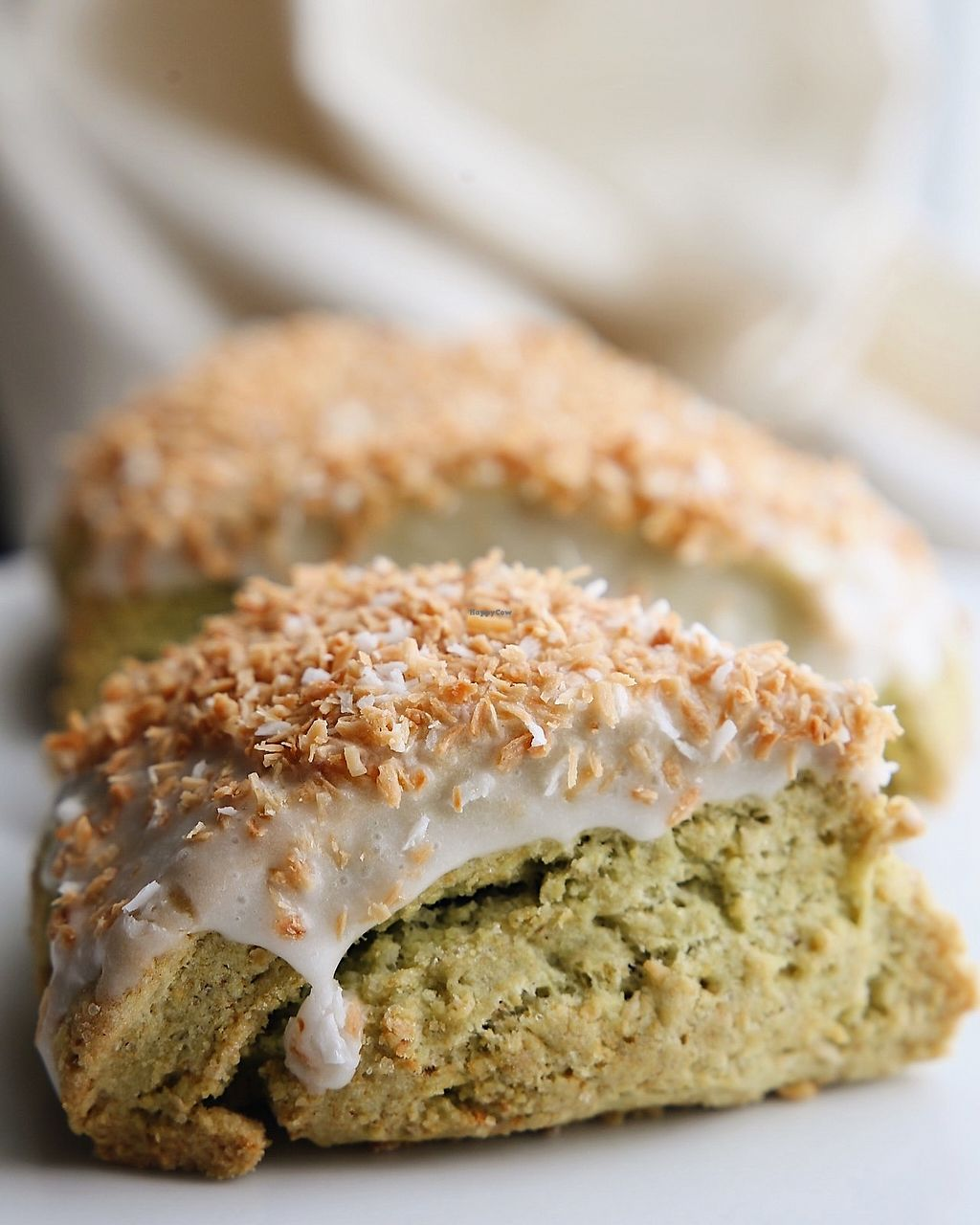 "Photo of Seth's Coffee  by <a href=""/members/profile/JazminMartens"">JazminMartens</a> <br/>vegan matcha coconut scones  <br/> April 24, 2018  - <a href='/contact/abuse/image/89213/390274'>Report</a>"