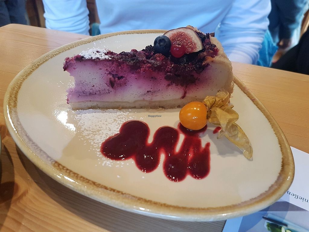 """Photo of Green Leaf Cafe  by <a href=""""/members/profile/Plankton"""">Plankton</a> <br/>Käse-Kirschkuchen <br/> October 29, 2017  - <a href='/contact/abuse/image/89234/319950'>Report</a>"""