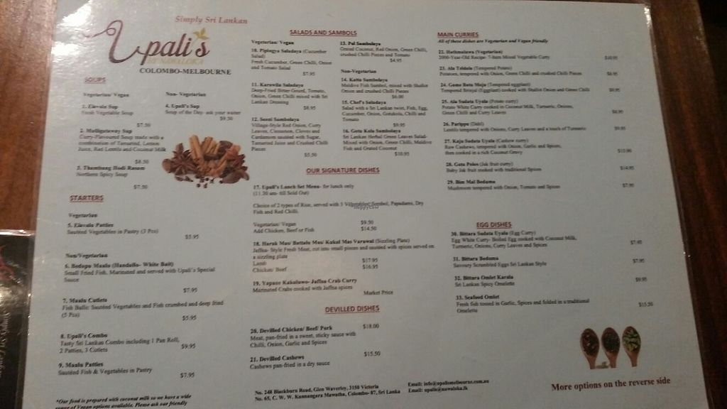 """Photo of Upali's  by <a href=""""/members/profile/ErinLeaP"""">ErinLeaP</a> <br/>front menu page <br/> March 26, 2017  - <a href='/contact/abuse/image/89237/240970'>Report</a>"""