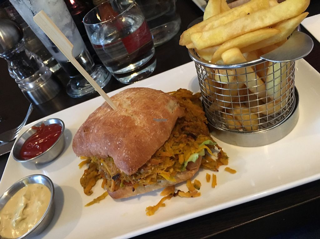 """Photo of Kisa's  by <a href=""""/members/profile/radiocaz"""">radiocaz</a> <br/>Sweet potato and butternut squash burger <br/> April 13, 2017  - <a href='/contact/abuse/image/89252/247474'>Report</a>"""
