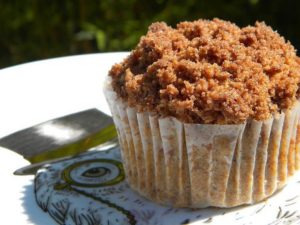 """Photo of Laughing Dog Kitchen  by <a href=""""/members/profile/asecretcheri2"""">asecretcheri2</a> <br/>Coffee Cake muffin.  Check our website for locations that carry our products.  All vegan/GF <br/> March 25, 2017  - <a href='/contact/abuse/image/89264/240856'>Report</a>"""