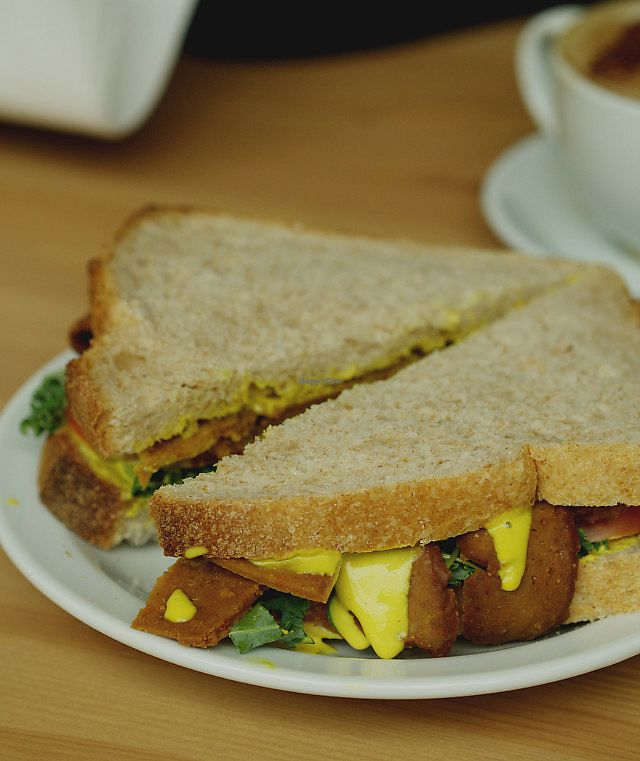 "Photo of Grassroots Health  by <a href=""/members/profile/EmmaFaeEdinburgh"">EmmaFaeEdinburgh</a> <br/>Seitan sandwich at GrassRoots Health <br/> February 4, 2018  - <a href='/contact/abuse/image/89267/354923'>Report</a>"