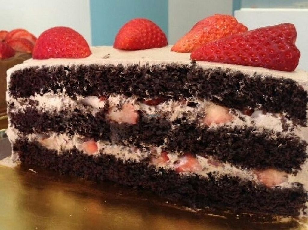 """Photo of Alice in Wonder Pie  by <a href=""""/members/profile/Ceresmar"""">Ceresmar</a> <br/>chocolate cake with whipped cream and strawberries (v)  <br/> April 4, 2017  - <a href='/contact/abuse/image/89279/244694'>Report</a>"""