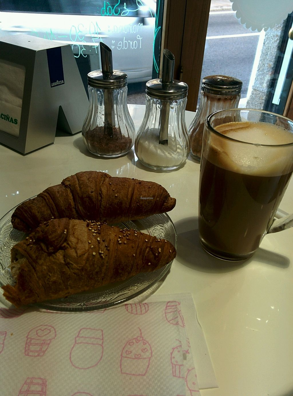 """Photo of Alice in Wonder Pie  by <a href=""""/members/profile/ninjagirl"""">ninjagirl</a> <br/>Vegan croissant&oat latte <br/> September 20, 2017  - <a href='/contact/abuse/image/89279/306356'>Report</a>"""