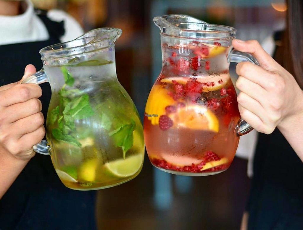 """Photo of Veg Bar  by <a href=""""/members/profile/jazmindt"""">jazmindt</a> <br/>Mojito and Sangria jugs <br/> March 26, 2017  - <a href='/contact/abuse/image/89286/241057'>Report</a>"""
