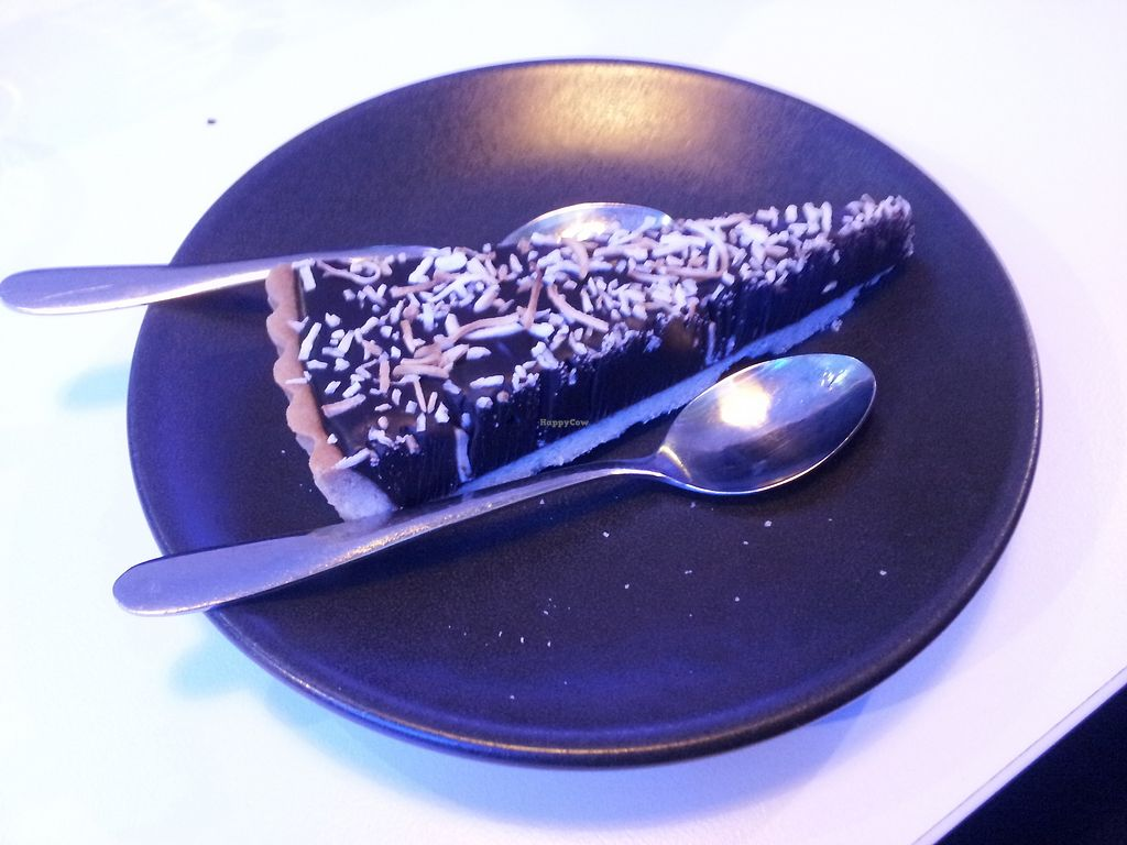"""Photo of Veg Bar  by <a href=""""/members/profile/necius"""">necius</a> <br/>Chocolate tart at Veg Bar Hobart <br/> September 13, 2017  - <a href='/contact/abuse/image/89286/303876'>Report</a>"""