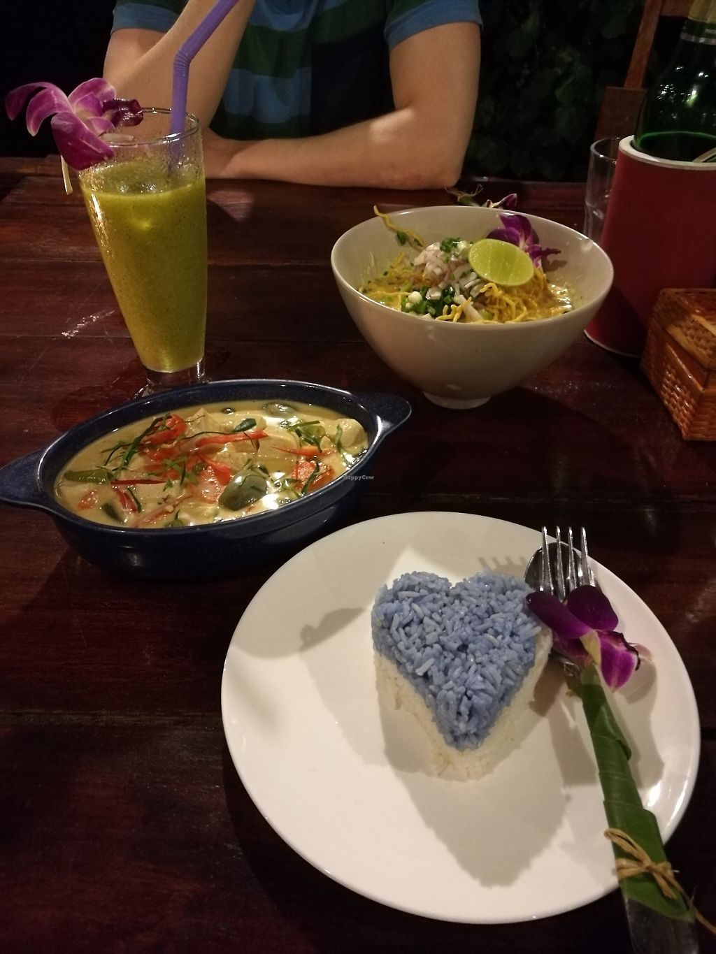 """Photo of Blue Lagoon  by <a href=""""/members/profile/IlonaKotiranta"""">IlonaKotiranta</a> <br/>Panang curry and kao soy, both with tofu <br/> December 12, 2017  - <a href='/contact/abuse/image/89292/334927'>Report</a>"""