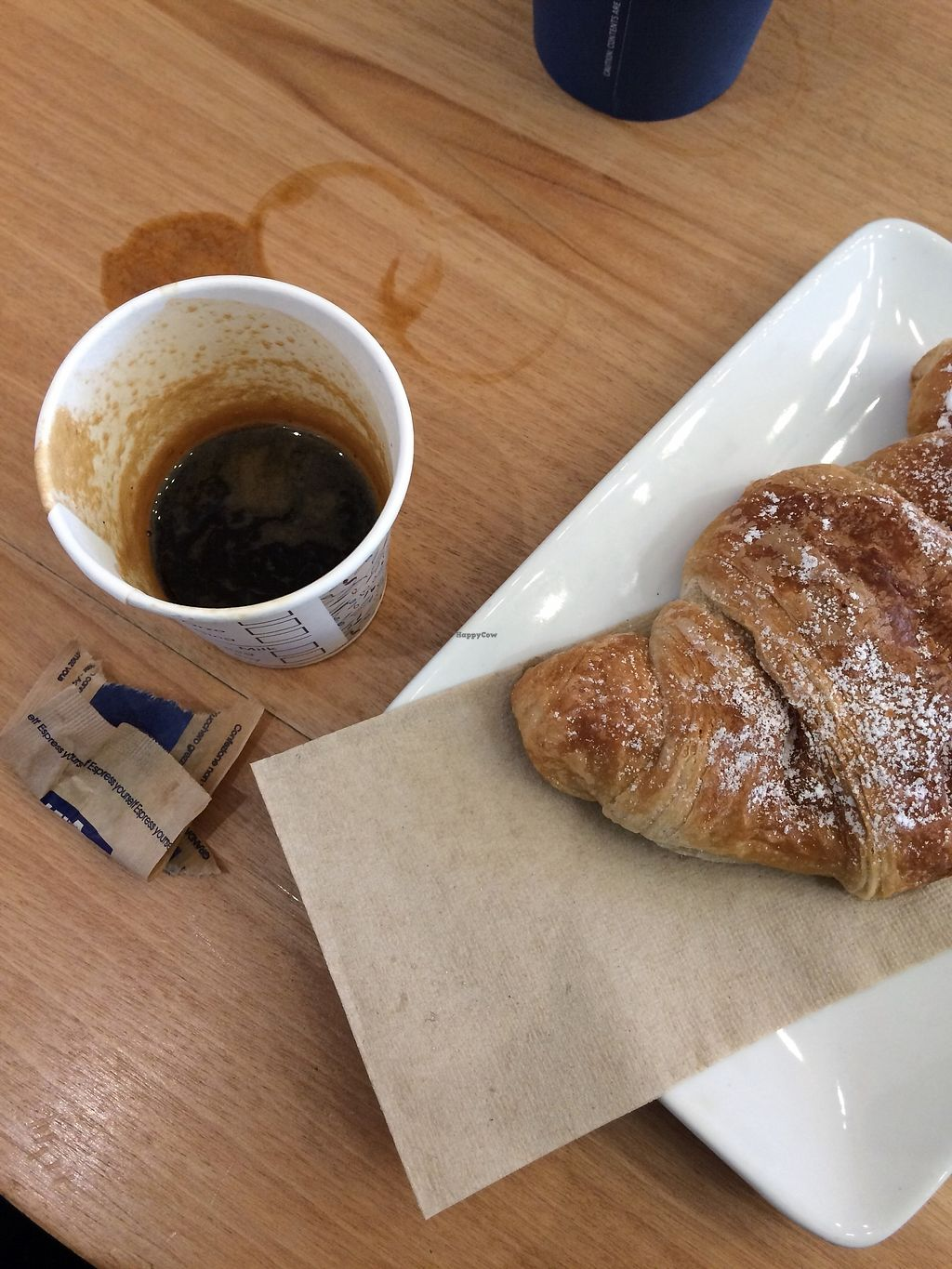 """Photo of Natoo  by <a href=""""/members/profile/siderealfire"""">siderealfire</a> <br/>Vegan empty croissant and espresso (I spilled it myself) <br/> March 28, 2018  - <a href='/contact/abuse/image/89296/377409'>Report</a>"""