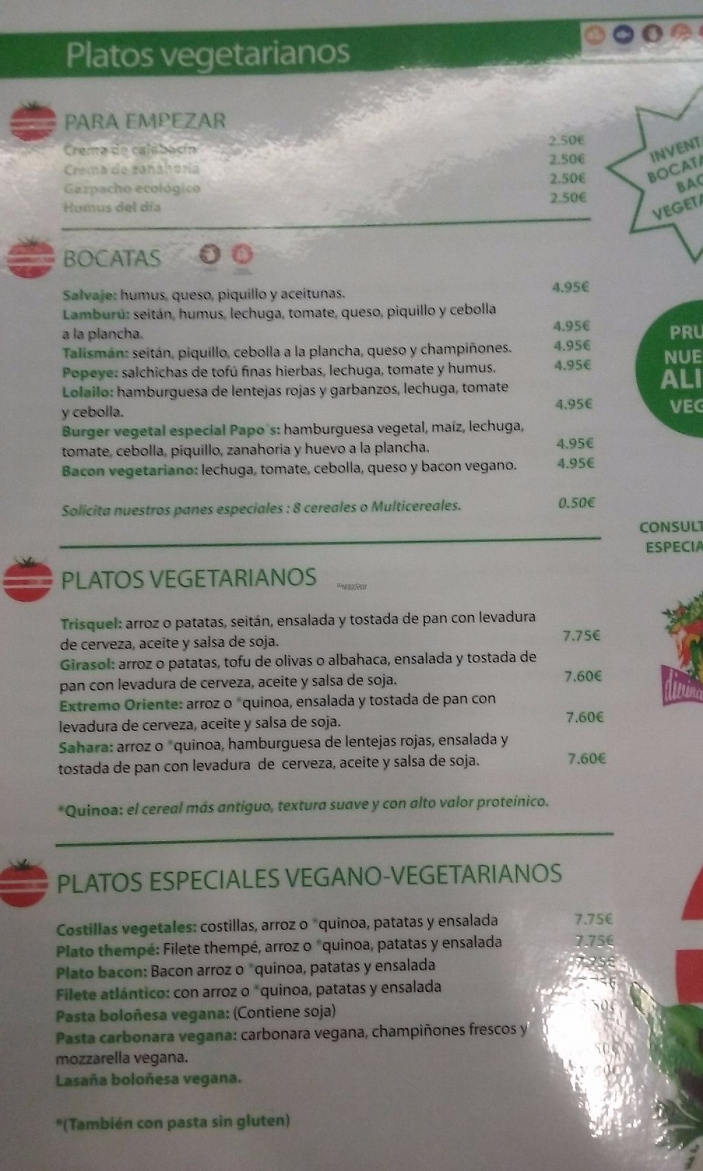 """Photo of Papo's  by <a href=""""/members/profile/Ceresmar"""">Ceresmar</a> <br/>Part of the veg menu <br/> March 26, 2017  - <a href='/contact/abuse/image/89305/241613'>Report</a>"""