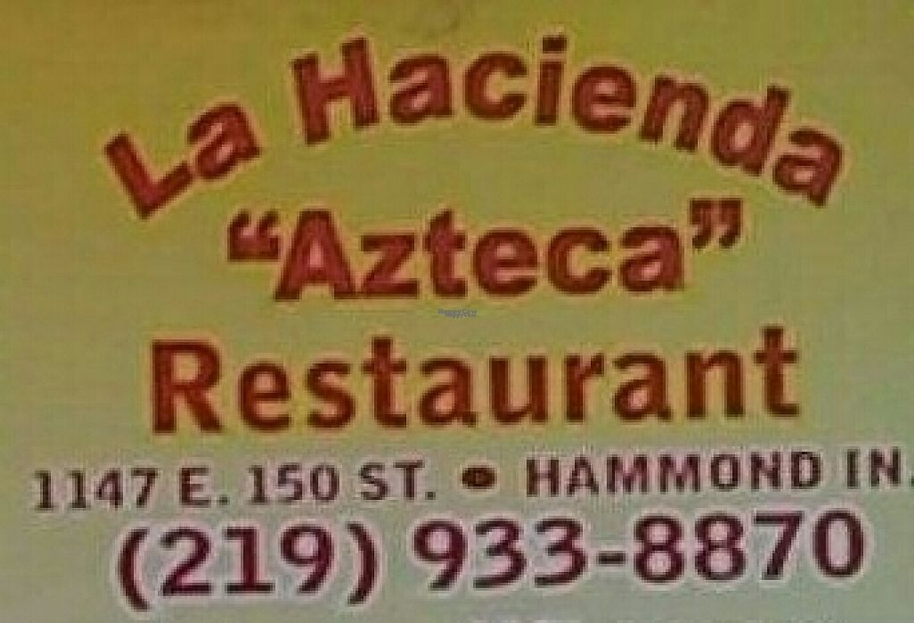 """Photo of La Hacienda Azteca  by <a href=""""/members/profile/RosieTheVegan"""">RosieTheVegan</a> <br/>La Hacienda Azteca <br/> March 26, 2017  - <a href='/contact/abuse/image/89326/241559'>Report</a>"""