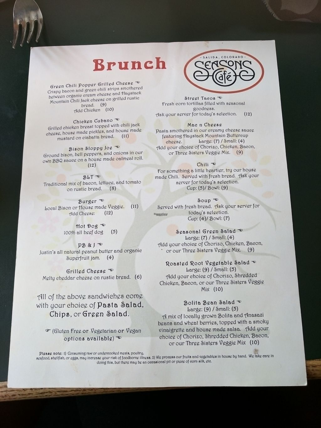 "Photo of Seasons Cafe  by <a href=""/members/profile/DesireeHooston"">DesireeHooston</a> <br/>Season's menu <br/> March 31, 2017  - <a href='/contact/abuse/image/89349/243005'>Report</a>"