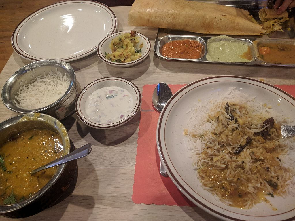 """Photo of Madras Kitchen  by <a href=""""/members/profile/JamesL"""">JamesL</a> <br/>A yummy meal! Dosa and curry <br/> February 4, 2018  - <a href='/contact/abuse/image/89359/354891'>Report</a>"""