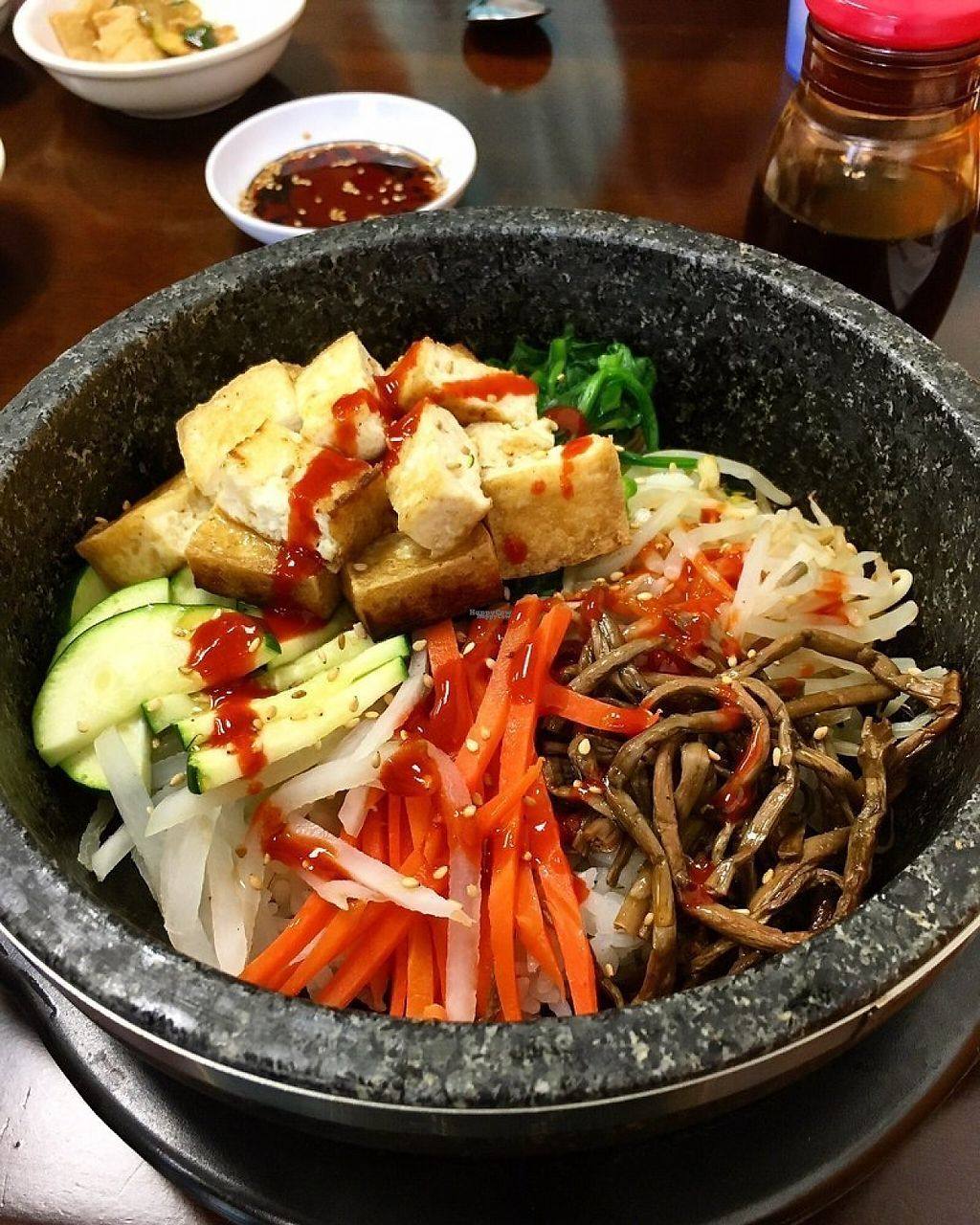 "Photo of Hi Tofu  by <a href=""/members/profile/spiceislandvegan"">spiceislandvegan</a> <br/>Tofu Bibimbap.  No Egg <br/> March 28, 2017  - <a href='/contact/abuse/image/89375/242079'>Report</a>"