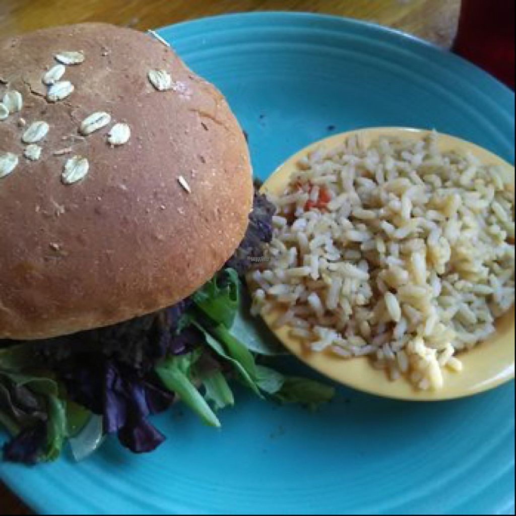 "Photo of Hobbit Cafe  by <a href=""/members/profile/Amytara214"">Amytara214</a> <br/>black bean burger <br/> April 16, 2017  - <a href='/contact/abuse/image/89382/249143'>Report</a>"