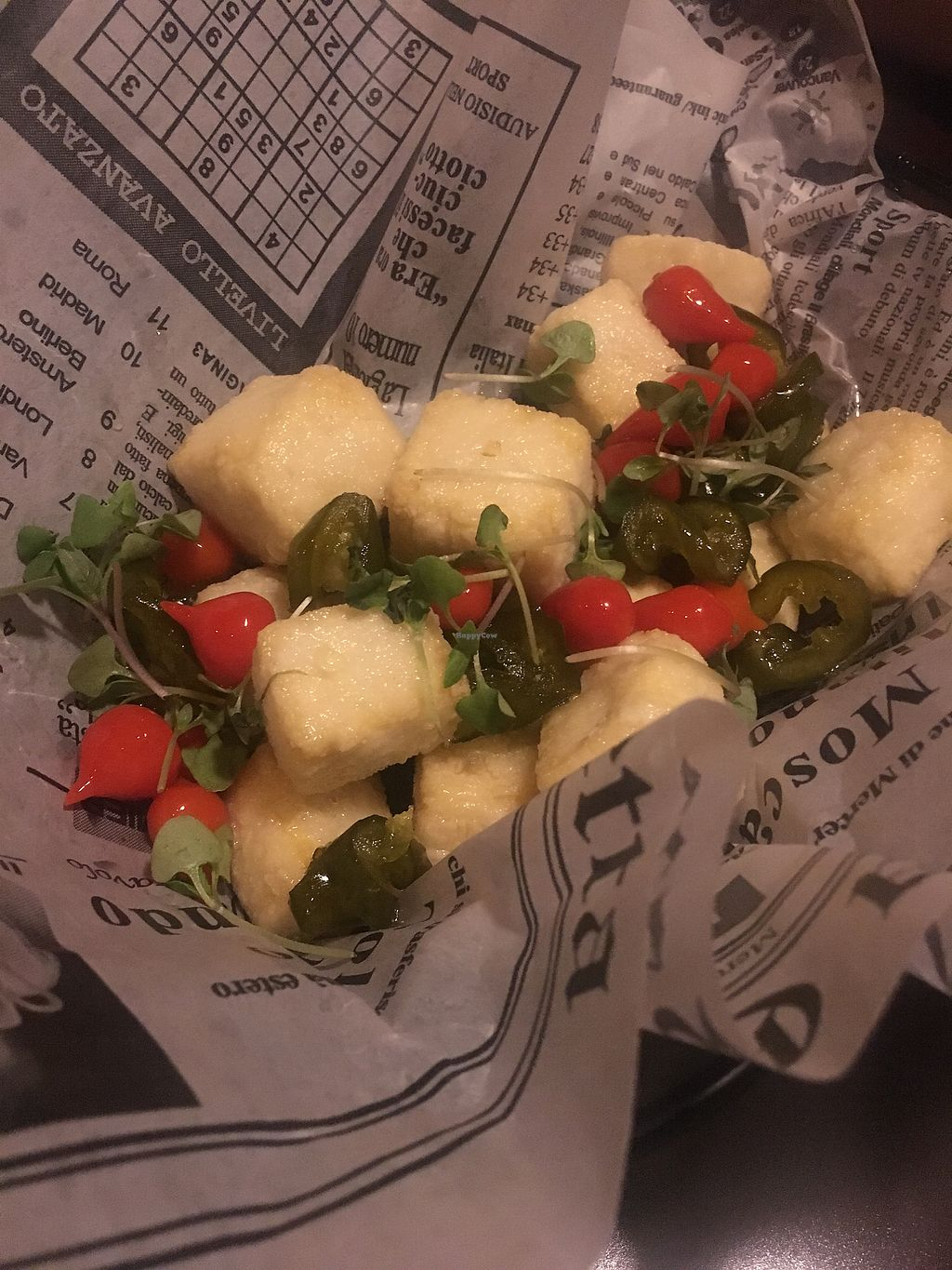"""Photo of Tony and Nick's Italian Kitchen  by <a href=""""/members/profile/thebin41"""">thebin41</a> <br/>Crispy Tofu <br/> March 10, 2018  - <a href='/contact/abuse/image/89387/368658'>Report</a>"""