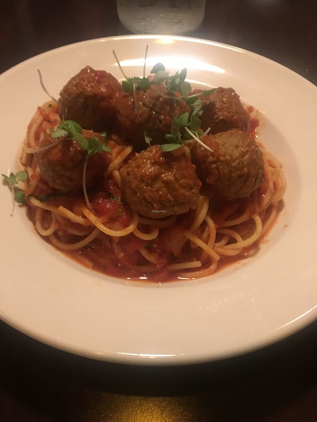 """Photo of Tony and Nick's Italian Kitchen  by <a href=""""/members/profile/thebin41"""">thebin41</a> <br/>Vegan Spaghetti and Meatballs <br/> March 10, 2018  - <a href='/contact/abuse/image/89387/368659'>Report</a>"""