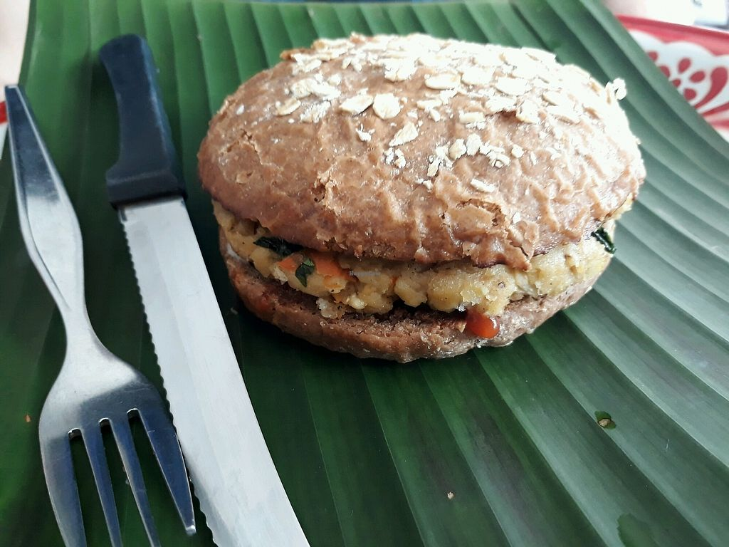 """Photo of Sa Bai Jai  by <a href=""""/members/profile/LilacHippy"""">LilacHippy</a> <br/>Veggie burger <br/> September 24, 2017  - <a href='/contact/abuse/image/89390/307677'>Report</a>"""