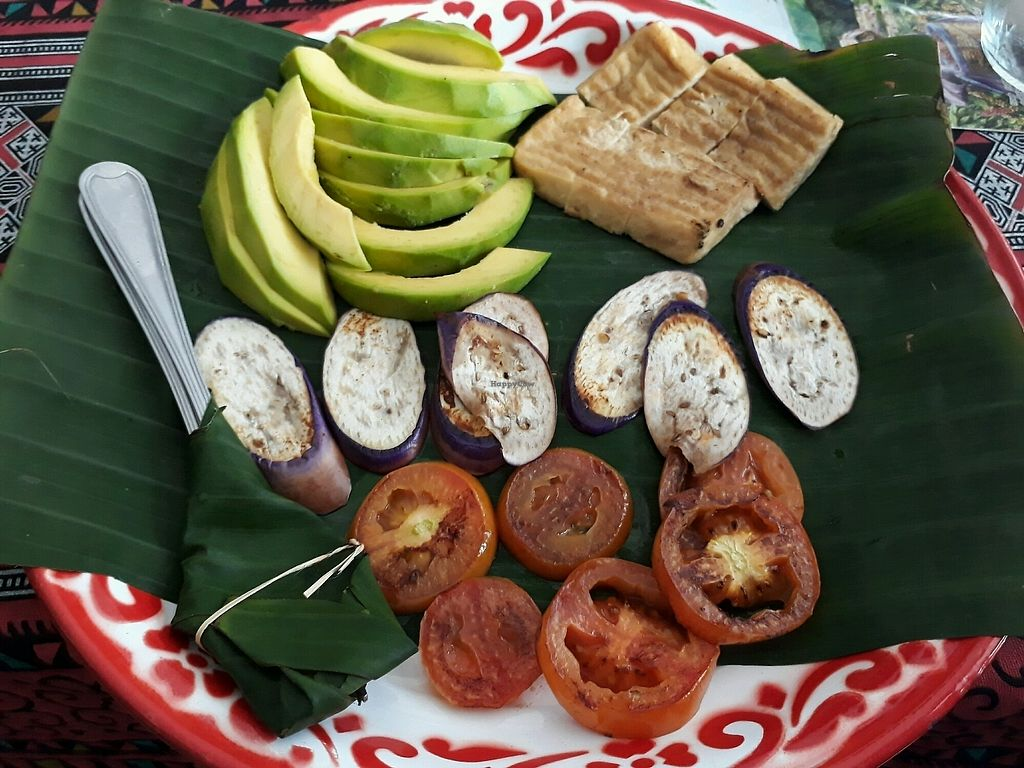 """Photo of Sa Bai Jai  by <a href=""""/members/profile/LilacHippy"""">LilacHippy</a> <br/>Grilled veggies and tofu (vegan breakfast) <br/> September 25, 2017  - <a href='/contact/abuse/image/89390/308048'>Report</a>"""