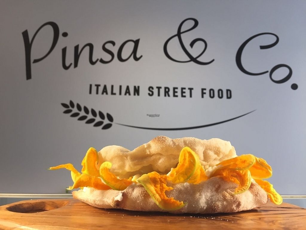 """Photo of Pinsa & Co  by <a href=""""/members/profile/Pinsologi"""">Pinsologi</a> <br/>Smile sandwich with flower of zucchini  <br/> April 4, 2017  - <a href='/contact/abuse/image/89399/244599'>Report</a>"""