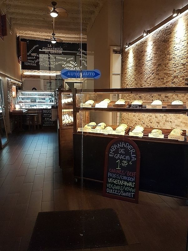 "Photo of La Empanaderie  by <a href=""/members/profile/TrudiBruges"">TrudiBruges</a> <br/>vegan sign, Empenaderia <br/> February 5, 2018  - <a href='/contact/abuse/image/89402/355292'>Report</a>"