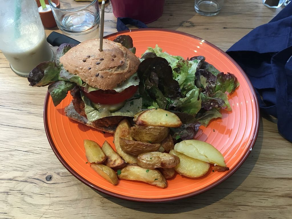 "Photo of Totum Cantine Bio  by <a href=""/members/profile/Imixle"">Imixle</a> <br/>Vegan burger with oven baked chips  <br/> August 29, 2017  - <a href='/contact/abuse/image/89413/298516'>Report</a>"