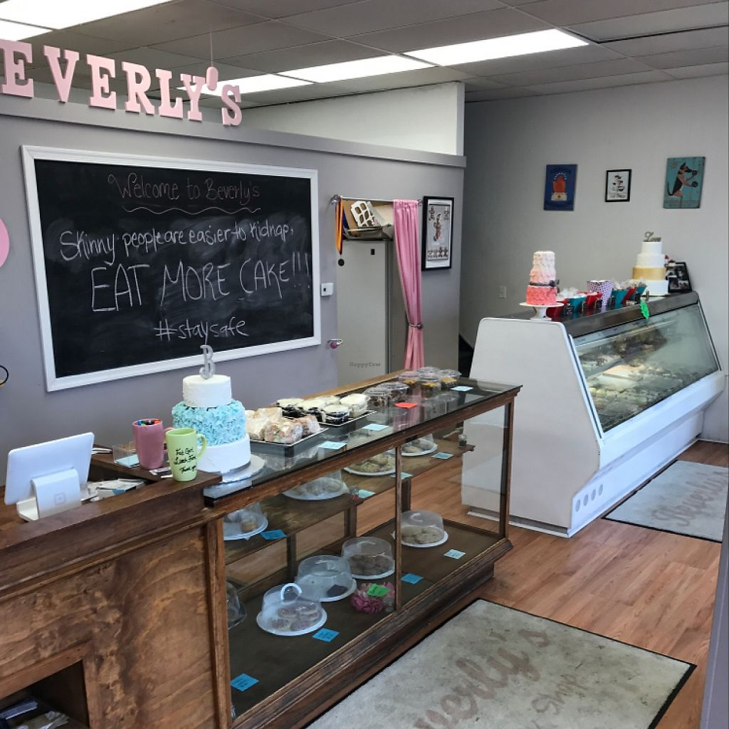 "Photo of Beverly's Pastry Shop  by <a href=""/members/profile/xjamiex"">xjamiex</a> <br/>cake and cookie displays (most are not vegan, but are veggie) <br/> May 11, 2017  - <a href='/contact/abuse/image/89444/257864'>Report</a>"