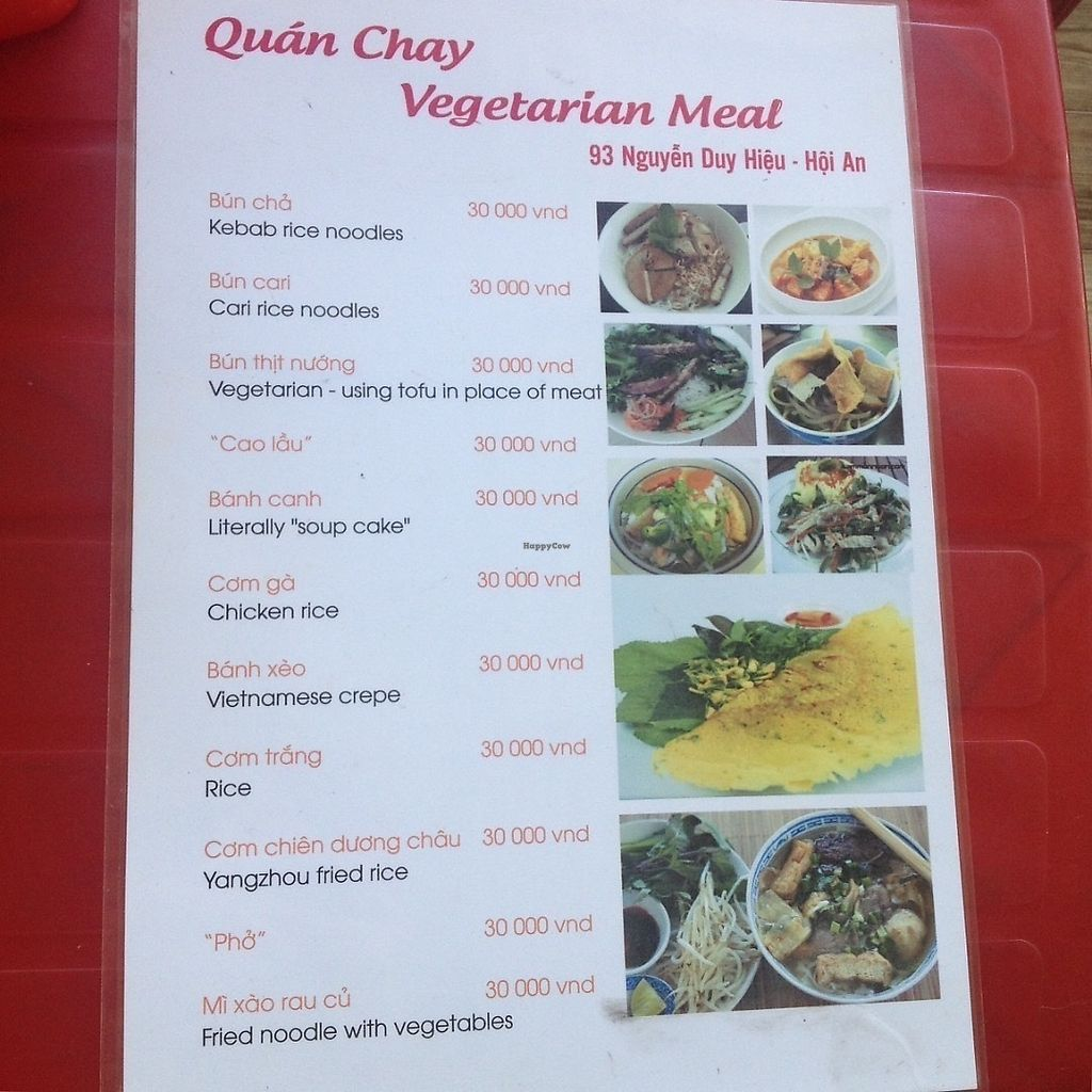 "Photo of Quan Chay - Nguyen Duy Hieu  by <a href=""/members/profile/VeganGecko"">VeganGecko</a> <br/>The all vegetarian menu. ""Chicken"" and ""kebab"" etc is made from tofu! <br/> June 15, 2017  - <a href='/contact/abuse/image/89450/269301'>Report</a>"