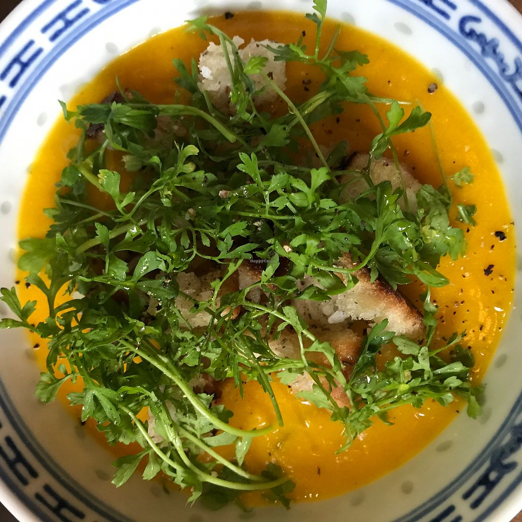 """Photo of Mineral  by <a href=""""/members/profile/liedman"""">liedman</a> <br/>Pumpkin soup with herbal bread and watercress <br/> October 4, 2017  - <a href='/contact/abuse/image/89455/311755'>Report</a>"""