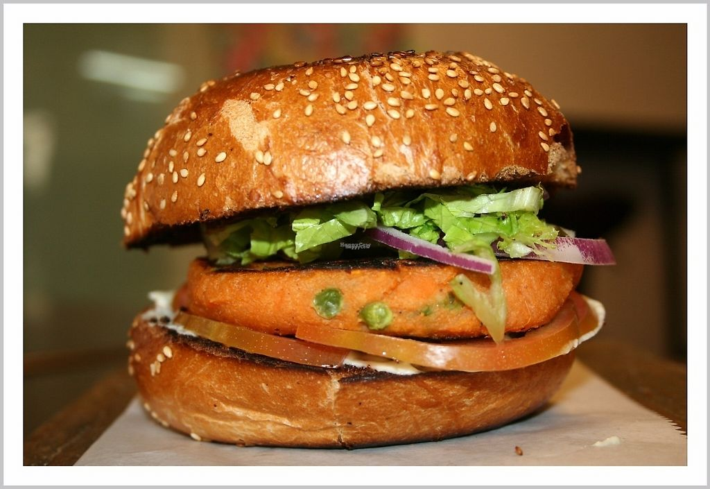 "Photo of Veggies Bar  by <a href=""/members/profile/wegovegan"">wegovegan</a> <br/>homemade vegan sweet potato burger <br/> April 16, 2017  - <a href='/contact/abuse/image/89481/248780'>Report</a>"