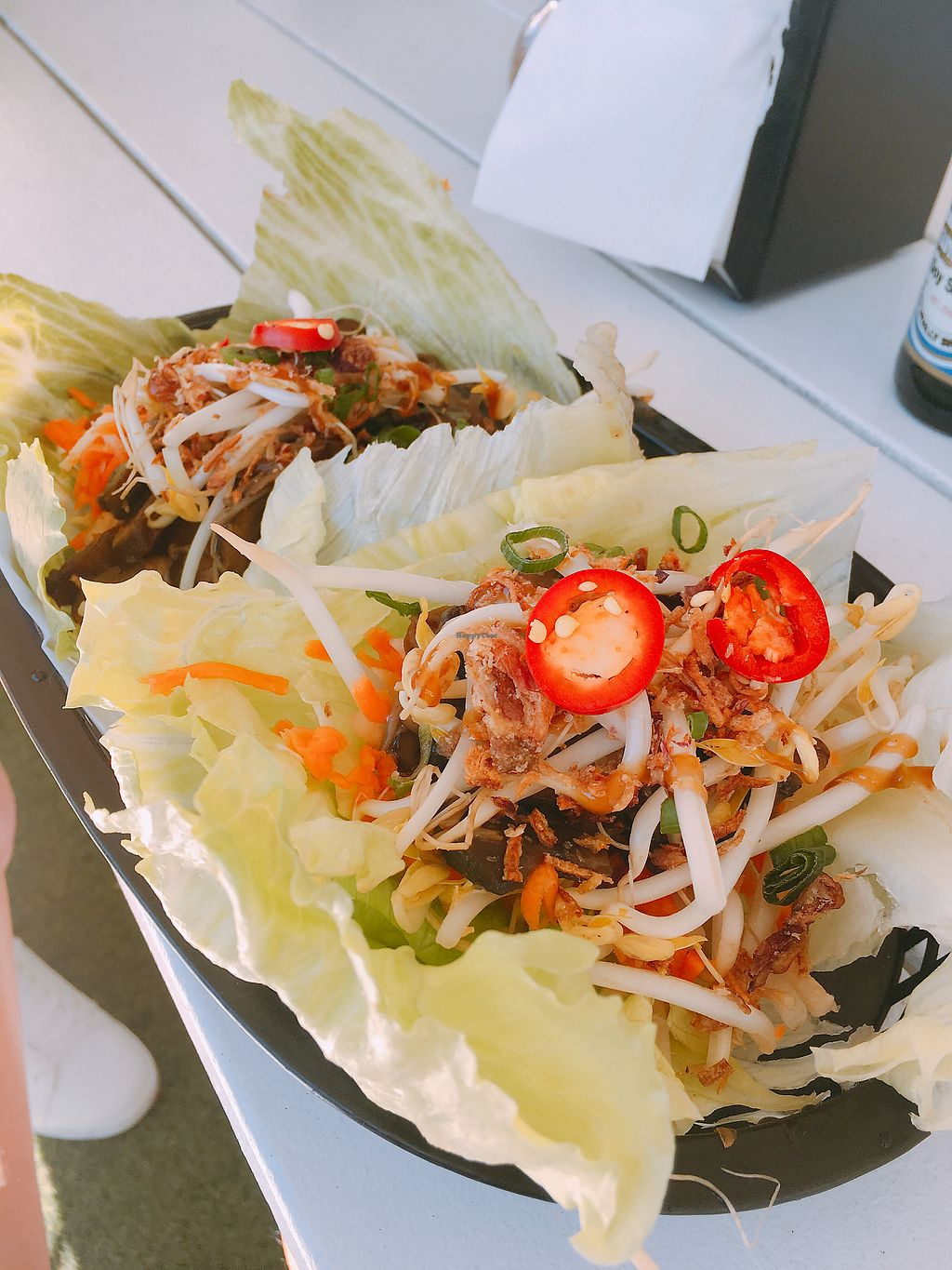 """Photo of Quay Canteen  by <a href=""""/members/profile/VinnieHTHoang"""">VinnieHTHoang</a> <br/>Mushroom filled San choy bow  <br/> September 8, 2017  - <a href='/contact/abuse/image/89516/301958'>Report</a>"""
