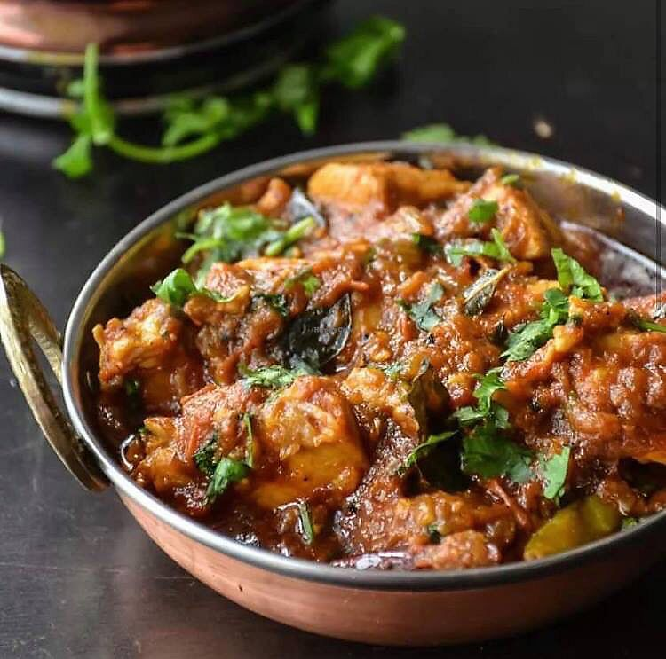 """Photo of Karma Kitchen  by <a href=""""/members/profile/hack_man"""">hack_man</a> <br/>Seitan Madras (from Karma Kitchen social media) <br/> April 16, 2018  - <a href='/contact/abuse/image/89535/386742'>Report</a>"""