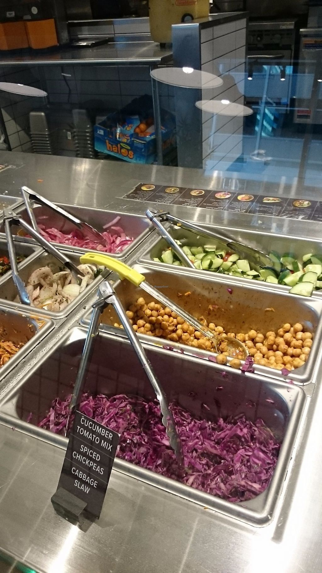 """Photo of Noon Mediterranean  by <a href=""""/members/profile/ZoraySpielvogel"""">ZoraySpielvogel</a> <br/>Vegan section of the salad bar <br/> May 31, 2017  - <a href='/contact/abuse/image/89544/264556'>Report</a>"""